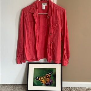 Coldwater Creek Pink Shirt/Jacket